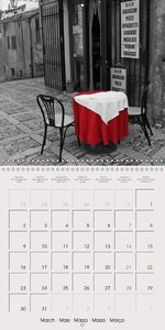 Black White Red (Wall Calendar 2015 300 × 300 mm Square)