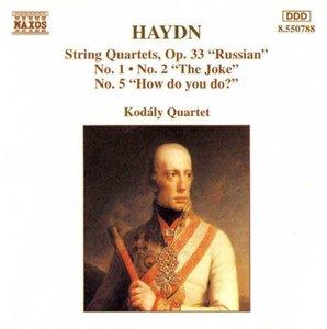 Streichquartette op.33,1+2+5