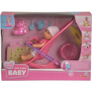 Simba 105030928 - Mini Baby Born - Buggy Set