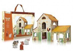 Puzzle 3D Bauernhof zum Aufbauen mit Figuren