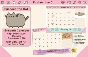 Pusheen the Cat 2015-2016 16-Month Desk Pad Calendar