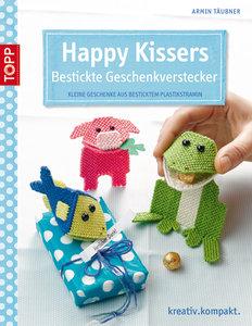 Happy Kissers - Bestickte Geschenkverstecker