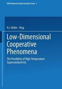 Low-Dimensional Cooperative Phenomena