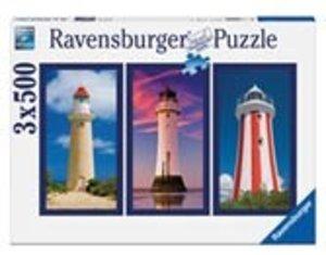Ravensburger 16277 - Imposante Leuchttürme, 3 x 500 Teile Puzzle