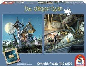 Schmidt Spiele 59600 - Unkrautland: Quadratpuzzles, Der Turm auf