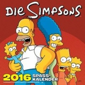 Die Simpsons Wandkalender 2016