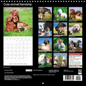 Cute animal friendship (Wall Calendar 2015 300 × 300 mm Square)