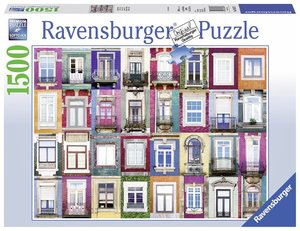 Ravensburger 16217 - Fenster in Porto, Puzzle, 1500 Teile
