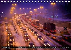 Licht & Geschwindigkeit: Autobahnen (Tischkalender 2016 DIN A5 q