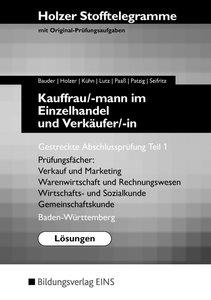 Stofftelegramme Kauffrau/ -mann im Einzelhandel und Verkäufer/ -
