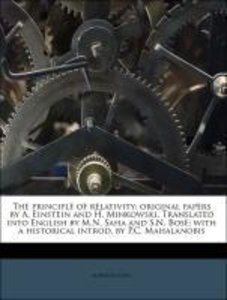 The principle of relativity; original papers by A. Einstein and