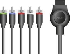 Speedlink SL-4404-BK MAX-3 Component HD Cable, HD-Kabel für PS3,
