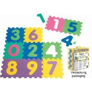 Playshoes 308744 - Puzzlematten Zahlen 10-teilig