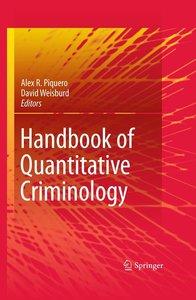 Handbook of Quantitative Criminology