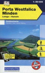 KuF Deutschland Outdoorkarte 58 Porta Westfalica 1 : 50 000