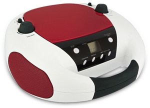 Tragbarer CD/MP3-Player CD52USB - weiss/rot