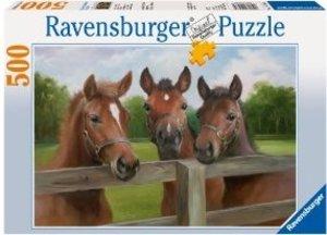 Ravensburger 14566 - Friedliche Pferde, 500 Teile Puzzle