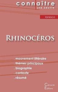 Fiche de lecture Rhinocéros de Eugène Ionesco (analyse littérair