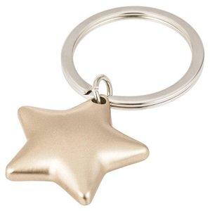 Stern, Schlüsselanhänger, gold matt
