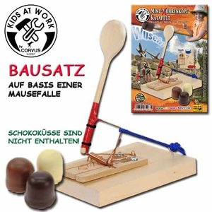 Corvus A750263 - Mini Mohrenkopf Katapult, Bausatz mit Mausefall
