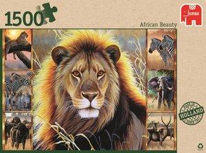 Jumbo Spiele 18356 - Afrikanische Schönheit, 1500 Teile