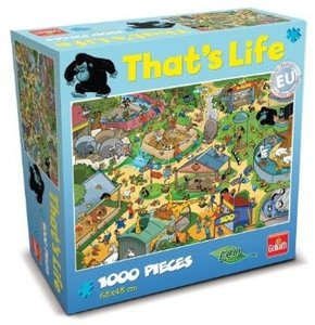Goliath 71308006 - Thats Life Wimmel Puzzle Zoo, 1000 Teile