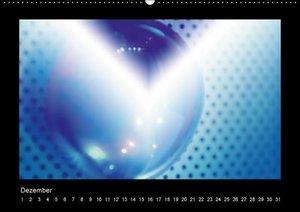 Blaue Kunst (Wandkalender immerwährend DIN A2 quer)