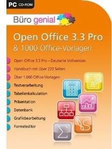 Büro genial-Open Office 3.3 Pro & 1000 Vorlagen