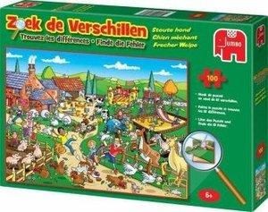 Jumbo Spiele - Finde den Fehler: Bauernhof, 100 Teile Puzzle