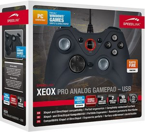 XEOX Pro Analog Gamepad - USB, black SL-6556-BK