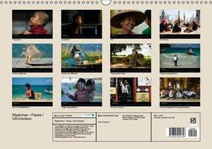 Myanmar - Faces / UK-Version (Wall Calendar 2015 DIN A3 Landscap