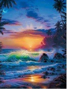 Lassen: Island Sunrise. Puzzle 1000 Teile