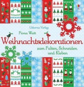 Weihnachtsdekorationen zum Falten, Schneiden und Kleben