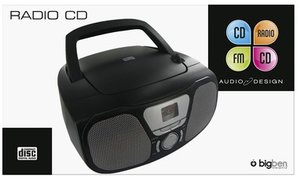 Tragbares CD/Radio CD46, schwarz
