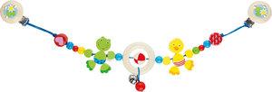Goki 737740 - Kinderwagenkette Ente und Frosch