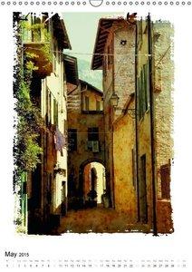 Italian alleys / UK-Version (Wall Calendar 2015 DIN A3 Portrait)