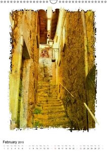 Italian alleys / UK-Version (Wall Calendar 2015 DIN A3 Portrait)