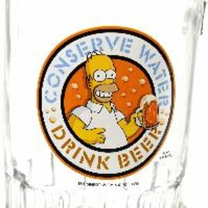 "The Simpsons - 2 Bierhumpen mit Öffner im Set ""Conserve Water, D"