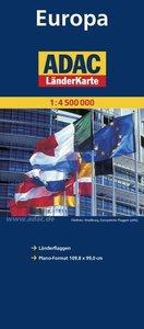 ADAC Länderkarte Europa 1:4 500 000 - plano