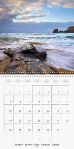 Cornish coast (Wall Calendar 2015 300 × 300 mm Square)