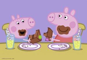 Peppa Pig: Glückliches Familienleben. Puzzle 2 x 24 Teile