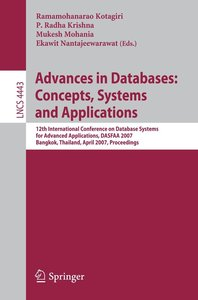 Advances in Databases: Concepts, Systems and Applications