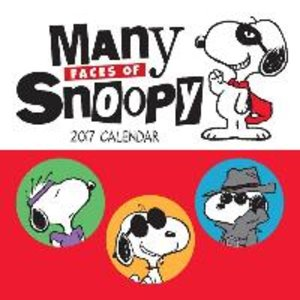 Many Faces of Snoopy 2017 Mini Wall Calendar