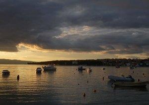 Sunsets at sea (Poster Book DIN A4 Landscape)