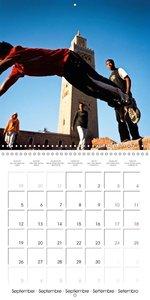Fun sports edition: Parkour through Marrakesh (Wall Calendar 201