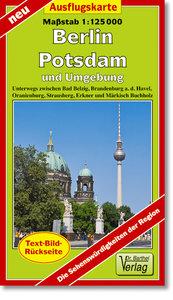 Berlin, Potsdam und Umgebung Ausflugskarte 1 : 125000