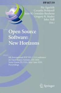 Open Source Software: New Horizons