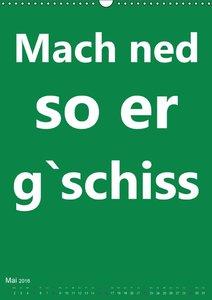 Meefränggisch für Neigschmeggde (Wandkalender 2016 DIN A3 hoch)