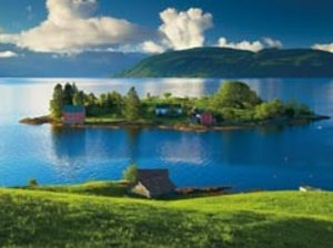 Insel in Hordaland, Norwegen. Puzzle 1500 Teile