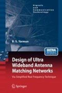 Design of Ultra Wideband Antenna Matching Networks
